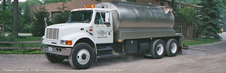 Gasaway Company tank truck used for dust control applications and bulk water delivery