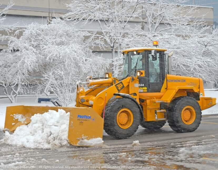 Gasaway Maintenance Company Plows Snow