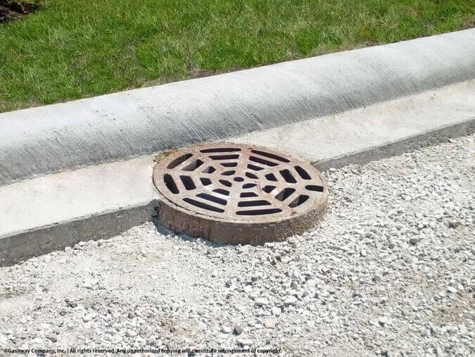 Concrete Curb with Storm Drain