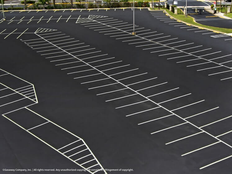 Parking Lot Seal Coating and Striping